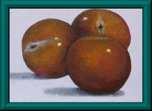 Plums Framed